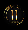template 11 years anniversary vector image vector image
