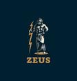 the greek god zeus vector image vector image