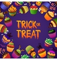 Trick or Treat Happy Halloween Greeting Card vector image vector image