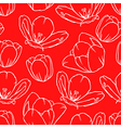 tulip contour pattern red vector image vector image