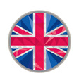 Union Jack UK GB Flag Circle Low Polygon vector image vector image