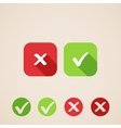 check mark icons flat icons for web and mobile vector image