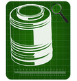 3d model of barrel on a green vector image vector image