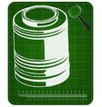 3d model of barrel on a green vector image
