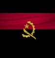 angola flag angola flag blowig in the wind eps 10 vector image