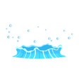aqueous stream with splashes of blue crystal aqua vector image vector image