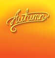 Autumn lettering vector image vector image