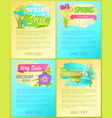 best discount spring sale new offer premium poster vector image