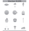 brown cake icons set Cup and cafe icon vector image