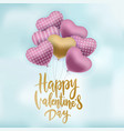 bunch ornate pink and gold air balloons flying vector image