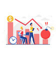 business economy future damage financial storm vector image