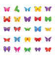 butterfly famous species flat icons vector image vector image