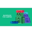 Camping Weekend icon vector image vector image