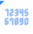 collection of the isometric sport numbers set vector image