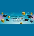 congratulations graduates 2019 caps balloons and vector image vector image