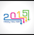creative New Year 2015 design stock vector image vector image