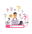 customer support faq concept chat for asking vector image