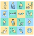 Disabled icons set flat line vector image vector image