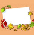 fall season banner autumn frame with bright vector image vector image