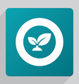 flat plant icon vector image vector image