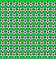 football ball seamless pattern vector image