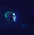 futuristic artificial intelligence concept cyber vector image