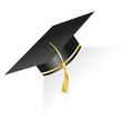 graduation cap element for degree ceremony vector image