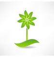 green windmill design element icon vector image
