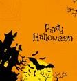 Halloween orange background vector image