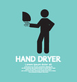 Hand Dryer Machine In Public Toilet vector image vector image