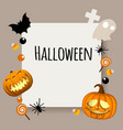 happy halloween background place for your text vector image