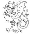 heraldic dragon no7 vector image vector image