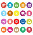 Home office flat icons on white background vector image