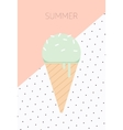 Ice Cream Flat Design vector image vector image