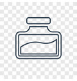 ink concept linear icon isolated on transparent vector image