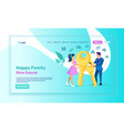 landing page offering real estate for young couple vector image vector image