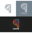 letter Q logo alphabet design icon set background vector image vector image