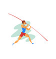 male athlete jumping with a pole professional vector image