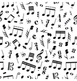 many music signs and note on white background vector image vector image