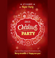 merry christmas party for flyer brochure design vector image