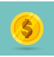 money coin isolated icon vector image