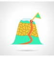 Mountain route flat icon vector image