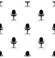 office chair icon in black style isolated on white vector image