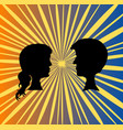 pair people vector image