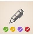 pencil icons vector image