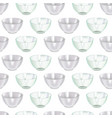 realistic detailed 3d glass and ceramic bowl vector image vector image