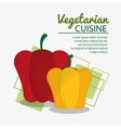 red and yellow pepper fresh natural vegetarian vector image vector image
