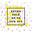 sale banner template design special offer vector image vector image