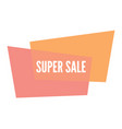 sale sticker with abstract colorful geometric form vector image vector image