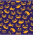 seamless minimal cartoon halloween pattern vector image